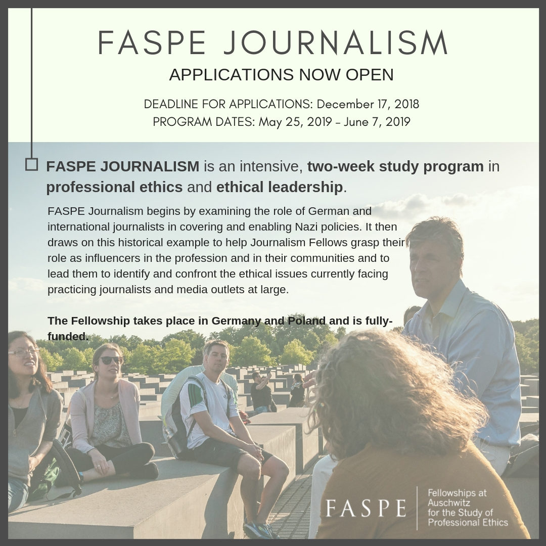 Photo of Info session about journalism ethics program